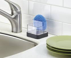 Kitchen Sink Scrubber Holder by Amazon Com Inter Design Kitchen Sink Holder For Sponges