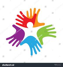 baby inside hands solidarity concept stock vector 424476913