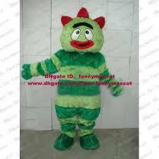 Brobee Halloween Costume Pretty Plush Green Yo Gabba Gabba Brobee Mascot Costume Monster