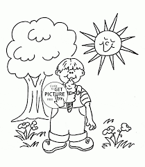 summer season pictures for kids drawing happy summer with ice