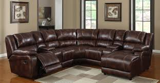 Brown Recliner Sofa Leather Sectional Recliner Sofa Mherger Furniture