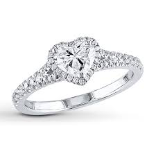www jared engagement rings jared engagement ring 1 ct tw shaped 14k white gold