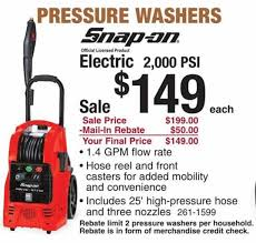 woah save 50 on this snap on pressure washer from menards sweet