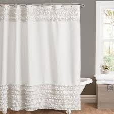 Living Room Curtains Bed Bath And Beyond Best 25 Ruffle Shower Curtains Ideas On Pinterest White Ruffle