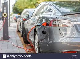 tesla charging tesla charger stock photos u0026 tesla charger stock images alamy