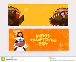 web header or banner for thanksgiving day stock illustration