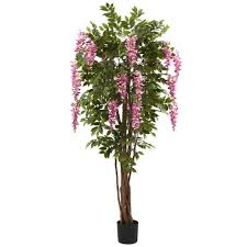 nearly natural 6 5 ft wisteria silk tree 5349 the home depot wisteria silk tree