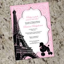 paris themed bridal shower invitations cloveranddot com