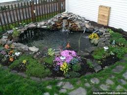 Backyard Pond Ideas With Waterfall Beautiful Backyard Pond Ideas For All Budgets Medium Size Inground