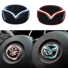 jeep steering wheel emblem car steering wheel emblem sticker for mazda 3 6 cx 5 cx5 axela