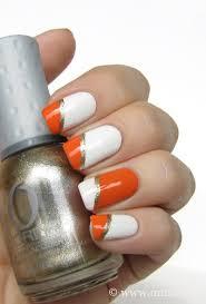 orange u0026 white nails u2013 mari u0027s nail polish blog