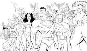 heroes superman coloring pages kids printable super heroes