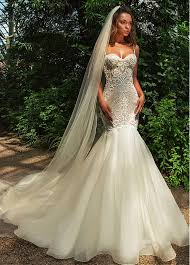 beaded wedding dresses buy discount amazing tulle spaghetti straps neckline mermaid