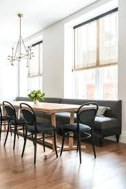 dining table with banquette seating round dining table with bench