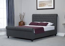 Grey Ottoman Bed Emporia Oxford 6ft Super Kingsize Grey Fabric Ottoman Bed By