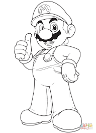 cool mario coloring page free printable coloring pages