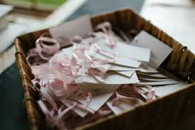 basket for wedding programs a simply pink and grey wedding from canada