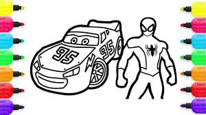 color cars 3 spiderman lightning mcqueen disney cars 3 coloring