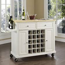alder wood orange zest raised door kitchen island wine rack