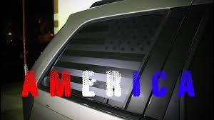 Flag Car Decals American Flag Window Decal Installation Youtube