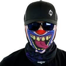 creepy mask creepy clown motorcycle mask biker bandana hoo rag