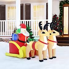 The Holiday Aisle Christmas Inflatable Santa on Sleigh with