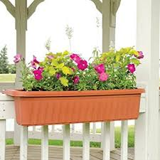 planters interesting railing planters amazon deck railing
