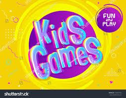 kids games vector background cartoon style stock vector 730561492