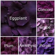 shades of dark purple dark purple silk rose petals 300 petals silk rose petals dark