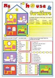 my house u0026 furniture worksheet free esl printable worksheets