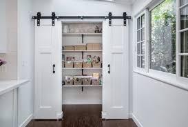 barn door style kitchen cabinets lowes barn door double pantry bifold diy impressive ideas style