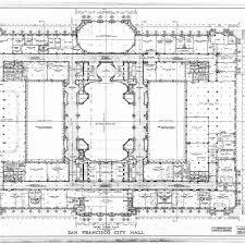 calisphere third floor plan san francisco city hall drawing no 11