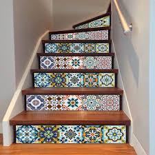 home decor dropship 6pcs 3d retro bohemian diy stair sticker vinyl art wall decal home