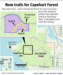 seattle map discovery park new plans for capehart forest where there once was asphalt