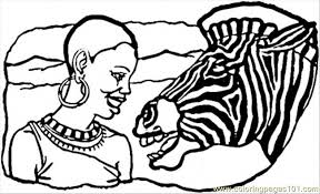 african lady zebra coloring free africa coloring pages
