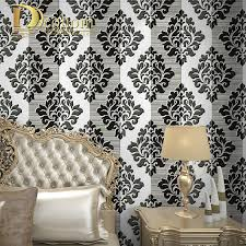 Black Damask Wallpaper Home Decor by Compare Prices On Damask Black White Online Shopping Buy Low