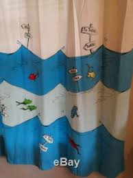 Pottery Barn Kids Shower Curtains Barn Kids Dr Seuss Cloth Shower Curtain One Fish Two Fish Whimsical