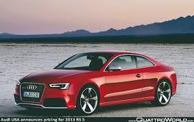 rs5 audi price audi usa releases pricing and information for 2013 rs5 quattroworld