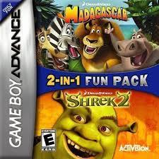 2 1 madagascar u0026 shrek 2 gameboy advance gba rom download