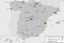 Tarragona Spain Map by Map Of The Teams In Spain U0027s Three Top Leagues Soccer