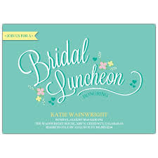 bridesmaid lunch invitations bridal luncheon invitation wording turquoise damask bridesmaids