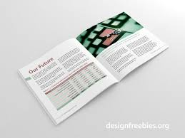 free soft and clean square indesign brochure template designfreebies