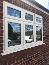 upvc bow windows bay windows upvc double glazing lancashire cream synseal legend 70 double glazed a rated windows with aged square lead top