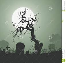 halloween spooky dead tree in graveyard stock images image 25469394