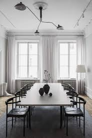 stunning black and white minimal dining room the home of interior