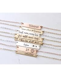 personalized name bar necklace get the deal personalized custom name bar necklace sted