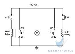 dc motor direction control using relay circuit mechatrofice