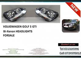 headlights for sale vw golf 5 gti bi xenon brand headlights for sale r2850 each