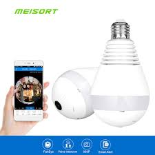 light bulb security system meisort fisheye 360 degree wireless network panoramic hd ip camera