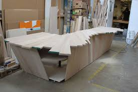 Timber Reception Desk Project Example Petermarigold Com
